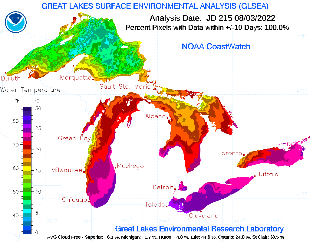 Great Lakes ice chart